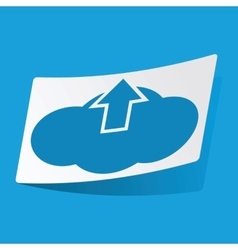 Cloud upload sticker vector