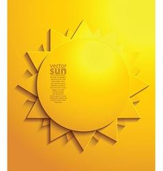 Sun design border vector