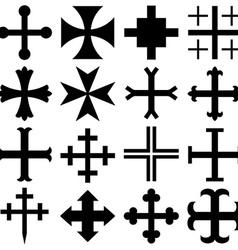 Heraldic crosses vector