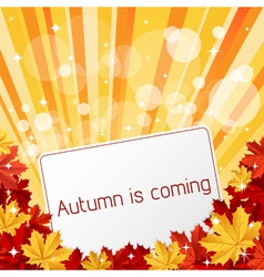Autumn is coming vector