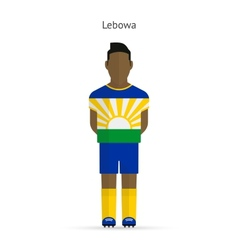 Lebowa football player soccer uniform vector