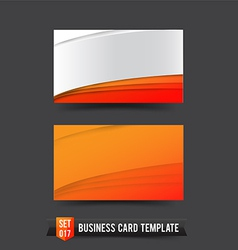 Business card template set 017 orange curve vector
