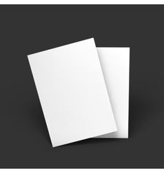 Magazine booklet postcard business card or vector