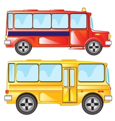 Two buses vector