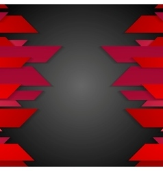 Dark red corporate abstract tech background vector