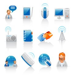 Communication and internet icons vector