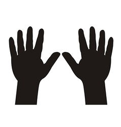 Hands with five fingers spread vector