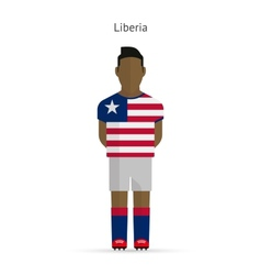 Liberia football player soccer uniform vector
