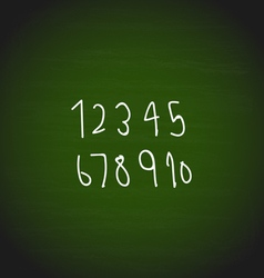 Hand drawing numbers design vector