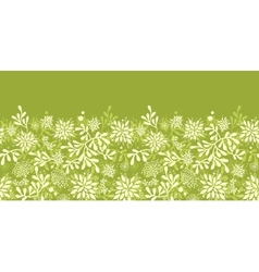 Green underwater plants horizontal seamless vector