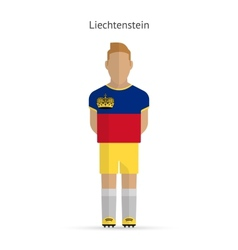 Liechtenstein football player soccer uniform vector