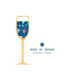 Colorful doodle bunting flags wine glass vector