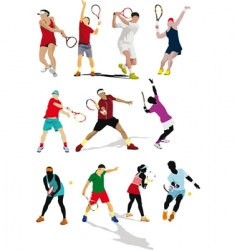 Tennis players vector