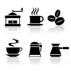 Icons coffee vector