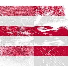 Flag of indonesia with old texture vector