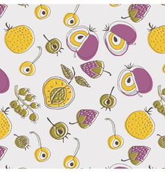 Flat fruit screenprint vector