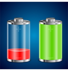Battery transparent icons vector