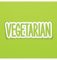 Vegetarian hand written calligraphy vector