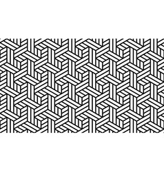 Black and white geometric pattern vector