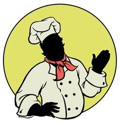 Silhouette chef - vector
