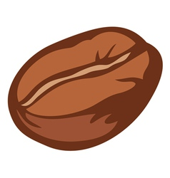 Brown roasted coffee bean vector
