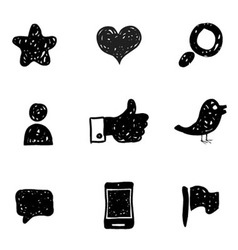 Sketch social media icons vector