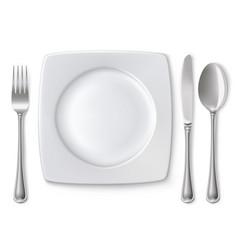 Empty plate vector