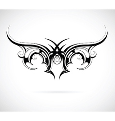 Tribal wing tattoo vector