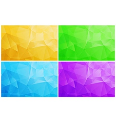 Geometric patterns set colorful abstract mosaic vector