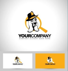 Detective dog logo vector