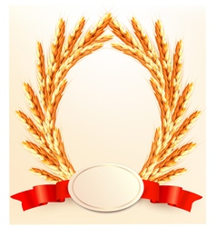 Ears of wheat with label vector