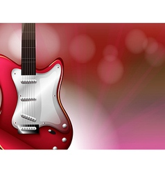 A red electric guitar vector