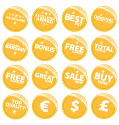 Retail web stickers vector