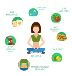 Infographics of main tips for losing weight vector