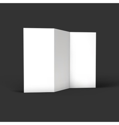 Blank trifold paper brochure mockup vector