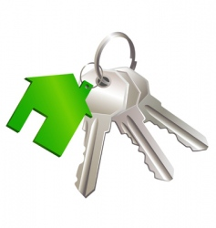 Keys with label of house vector