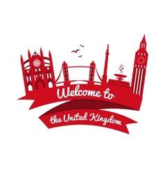 Logo landmarks of united kingdom vector
