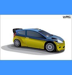 Rally sport car vector