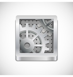 Computer settings icon vector