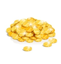 Golden coin heap vector