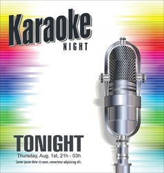 Karaoke colorful background vector