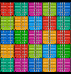 Freight shipping stacked seamless cargo container vector