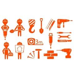 Construction industry set vector