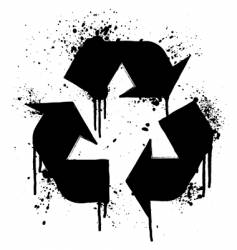 Recycle grunge symbol vector