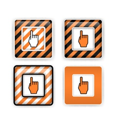 Warning or pointing signs vector