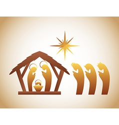 Manger design vector