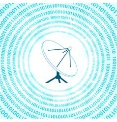 Digital satellite dish vector