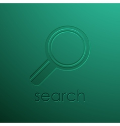 Green background with magnifying glass vector