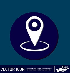 Pin location on the map vector