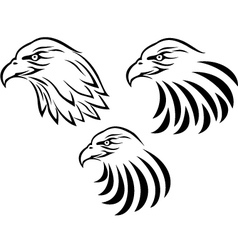 Eagle head tattoo vector